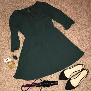 Olive green flowy dress